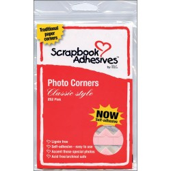 Pink Photo Corners Self Adhesive Scrapbook Adehesives