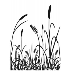 Grass Silhouette Embossing Folder Darice