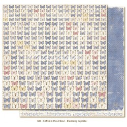 "Butterflies are Free 12""x12"" Coffee in the Arbour Maja Design"
