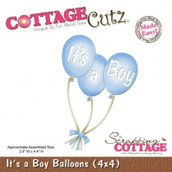 It's A Boy Balloons CottageCutz