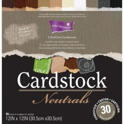 """Neutrals Collection Core'dinations Core Essentials Cardstock Pad 12""""x12"""""""