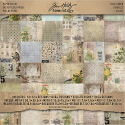 "Wallflower Paper Stash 12""x12"" Idea-Ology by Tim Holz"