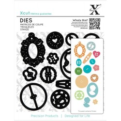 Sew Lovely Buttons Dies Xcut docrafts