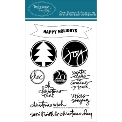 Christmas Day Clear Stamps Technique Tuesday