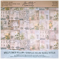 "Walflower Vellum 12""x12"" Idea Ology by Tim Holtz"