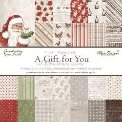 """A Gift for You At Christmas Time 6""""x6"""" Paper Stack Maja Design"""