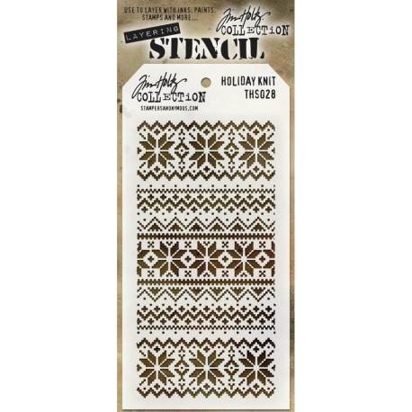 Holiday Knit Layering Stencil Tim Holtz