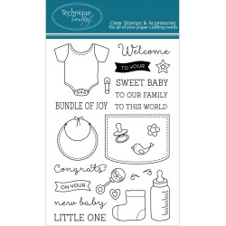 Bundle of Joy Clear Stamps Technique Tuesday