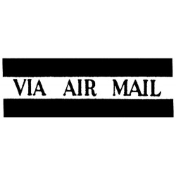 Via Air Mail Wood Mounted Red Rubber Stamp Tim Holtz