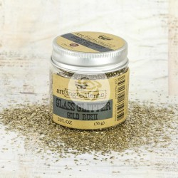 Gold Rush Art Ingredients Glass Glitter 2 oz Prima Marketing