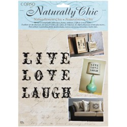 Live Love Laugh Wrights Naturally Chic Iron-On Transfers