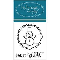 Let It Snow Clear Stamps Technique Tuesday