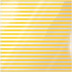 "Neon Yellow Stripe Clearly Bold Acetate Sheets 12"" x 12"""