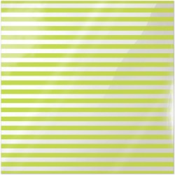 "Neon Green Stripe Clearly Bold Acetate Sheets 12"" x 12"""