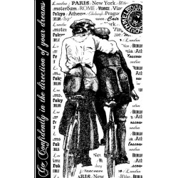Bicycle Embrace Rubber Stamp Crafty Individuals