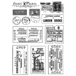 Vintage Tickets & Postmarks Rubber Stamp Crafty Individuals