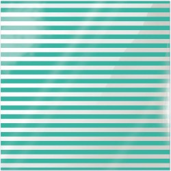 "Neon Teal Stripe Clearly Bold Acetate Sheets 12"" x 12"""