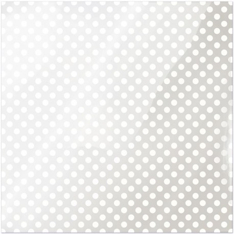 """White Dot Clearly Bold Acetate Sheets 12"""" x 12"""""""