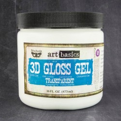 3D Gloss Gel Transparent 473 ml Art Basics Prima Marketing