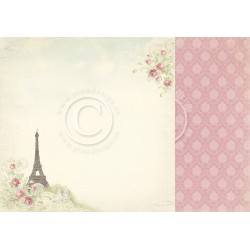"By the Eiffel Tower 12"" x 12"" Paris Flea Market Pion design"