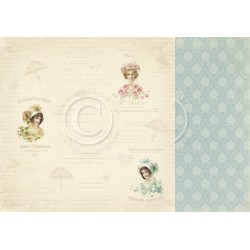 "Parisian Ladies 12"" x 12"" Paris Flea Market Pion design"