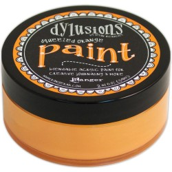 Squeezed Orange Dylusions Paint Dyan Reaveley