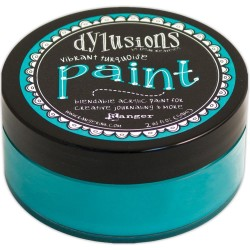 Vibrant Turquoise Dylusions Paint Dyan Reaveley