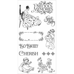 Precious Memories 1 Cling Mounted Stamps Hampton Art