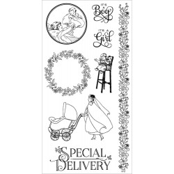 Precious Memories 3 Cling Mounted Stamps Hampton Art