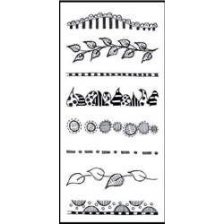 Clearly Borders Mini Clear Stamps Dylusions