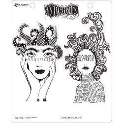 Survivor Dyan Reaveley's Dylusions Cling Stamp