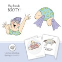 Beach Booty Set Art Impression Shake Your Booty Cling Rubber Stamps
