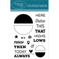 """Here & There Clear Stamps 3""""x4"""" Technique Tuesday"""