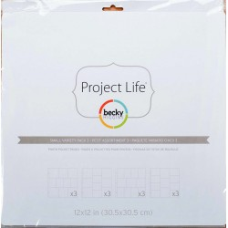 Small Variety Pack 3 Project Life Page Protectors 12 Pkg