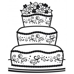 Fancy Cake Embossing Folder Darice