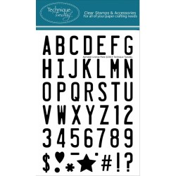 """Alphabet License Plate Clear Stamps 4""""x6"""" Technique Tuesday"""