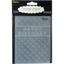 Happy Birthday Embossing Folder Darice