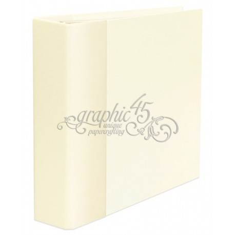 "Ivory Staples Mixed Media Album 8,25""x8,75"" Graphic 45"