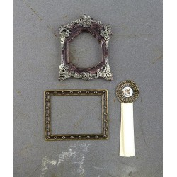 Memoir Timeless Memories Metal Trinkets 3 Pkg Embellishments Prima Marketing