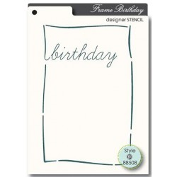 Birthday Stencil Memory Box