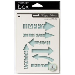 Happy Arrows Stencil Memory Box