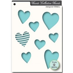 Collective Hearts Stencil Memory Box