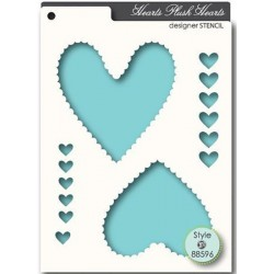 Plush Hearts Stencil Memory Box