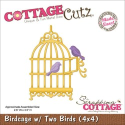 Birdcage W/2 Birds CottageCutz
