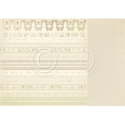 "Borders 12"" x 12"" Vintage Wedding Pion design"