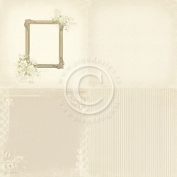 "Photo frame 6"" x 6"" Vintage Wedding Pion design"