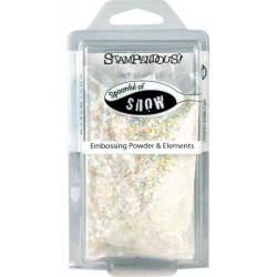 Spoonfull of Snow Embossing Powder & Elements Stampendous