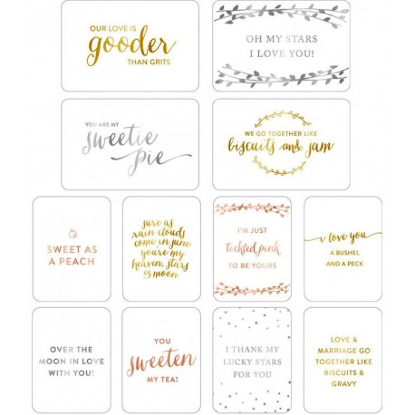 Southern Weddings Edition Project Life Specialty Card 12 Pkg American Crafts
