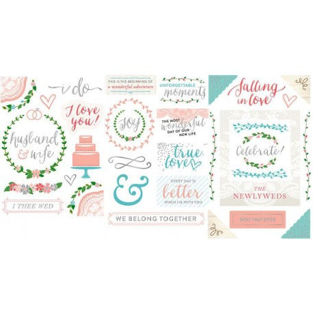 Southern Weddings Edition Chipboard Stickers Project Life by Becky Higgins