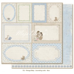 "Journaling Cards Blue 12""x12"" Vintage Baby Maja Design"
